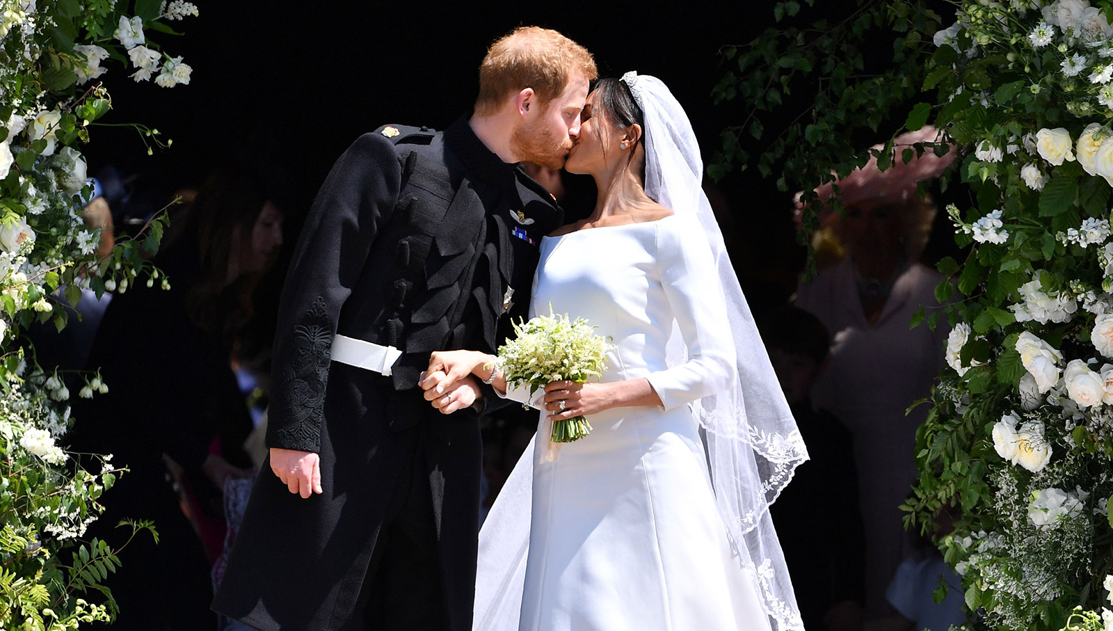 Royal Wedding il bacio degli sposi