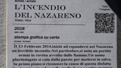 Photo of Nuova opera di Sirante vicino la sede del PD a Largo del Nazzareno