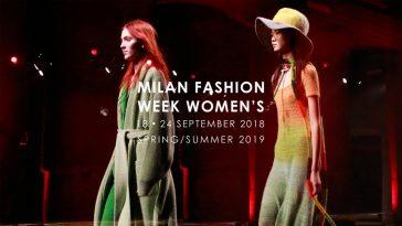 Settimana dellla Moda Milano settembre 2018