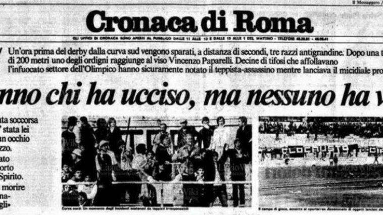 Vincenzo Paparelli morte
