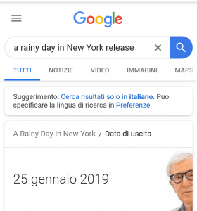a rainy day in new york data uscita
