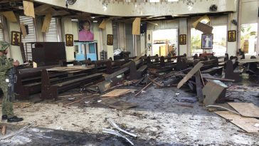 bomba chiesa filippine