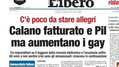 Photo of Titolo di Libero sui Gay: Polemiche sul web
