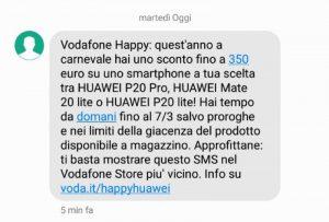 Vodafone Happy – sconto fino a 350 euro su HUAWEI per Carnevale (1)