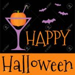 Happy Halloween invitation or greeting card.