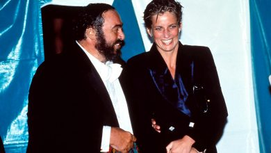 Aug. 17, 2006 – Luciano Pavarotti with Princess Diana. UPPA –   –    LUCIANOPAVAROTTIRETRO(Credit Image: © Globe Photos/ZUMAPRESS.com)
