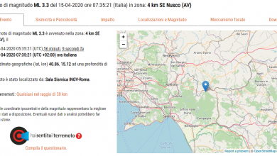 Photo of Terremoto a Nusco (Avellino): scossa di magnitudo 3.3
