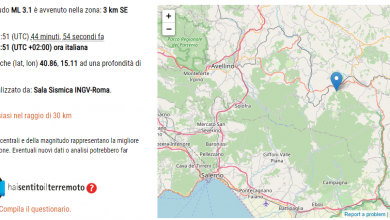 Photo of Terremoto a Nusco (Avellino): altra scossa di magnitudo 3.1