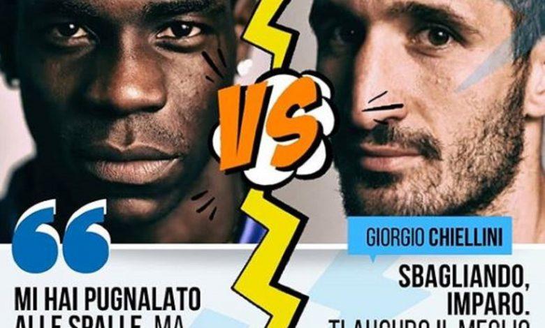 Balotelli a Chiellini: