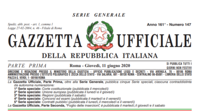 Photo of Nuovo Dpcm 11 giugno 2020, il testo definitivo in pdf