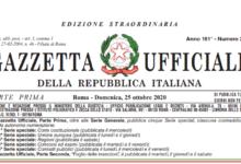 Photo of Nuovo Dpcm 25 ottobre 2020, il testo definitivo in pdf
